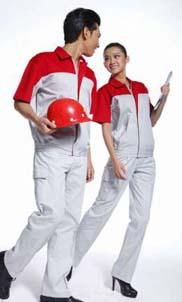 短袖工作服男女套装 夏季工程服装 劳保服电工服汽修短袖