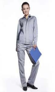 秋季长袖工作服 物业工人工服 涤棉工作服套装