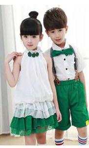 儿童校服 幼儿园园服夏中小学生班服套装 团体演出服定做厂家
